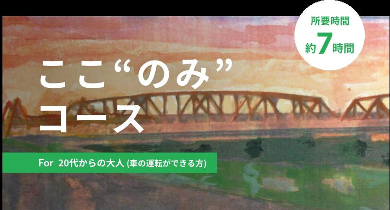 """ここ""""のみ""""<br>コース"""