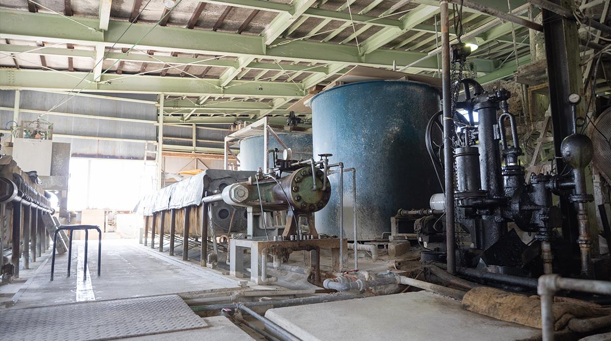 谷口製土所の工場