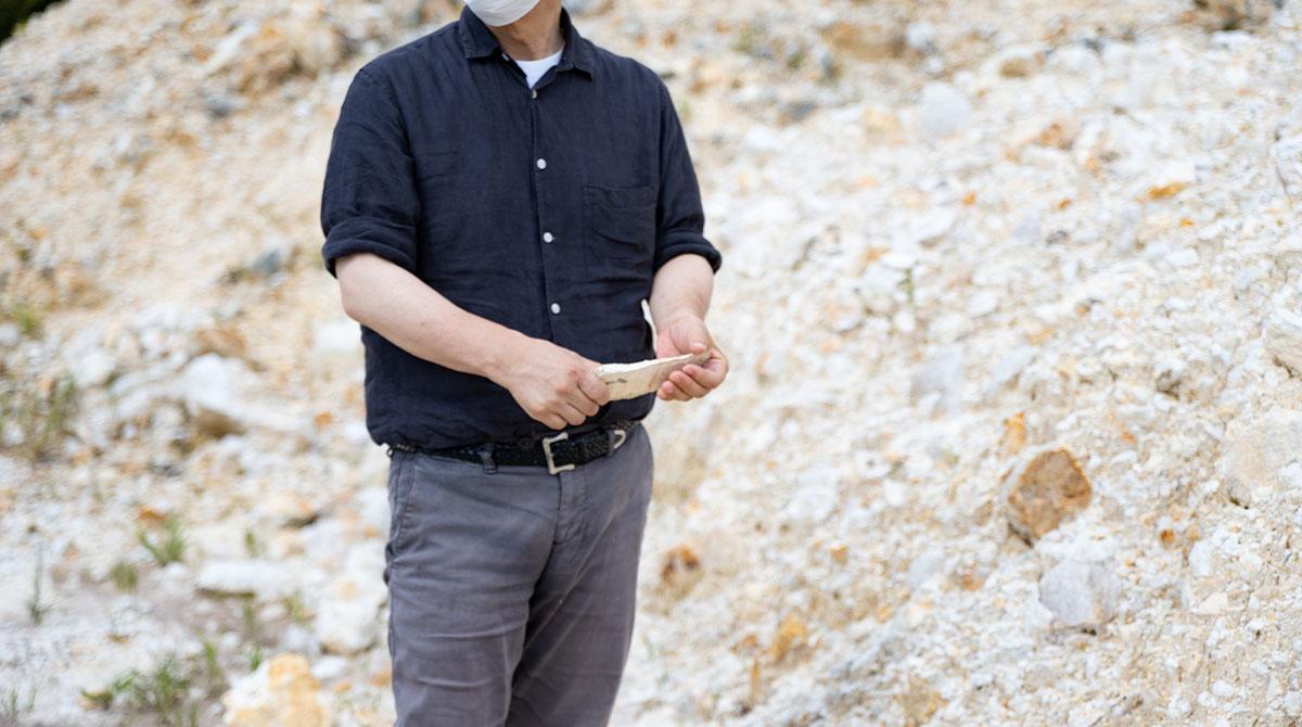 九谷焼の主原料である花坂陶石